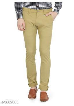 Stylish Men's Cotton Solid Trouser