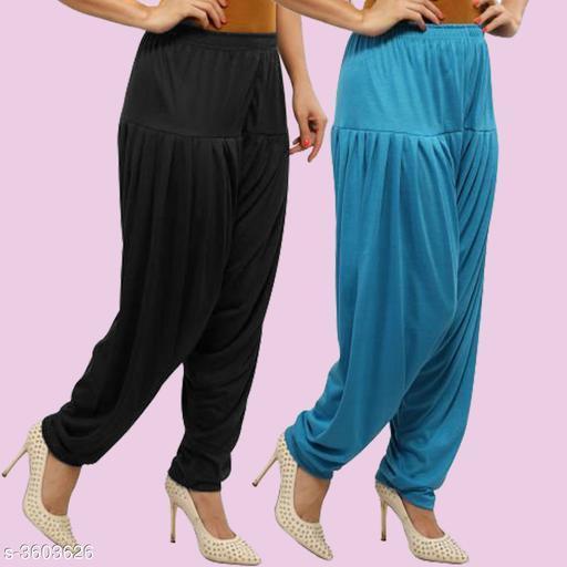 Designed Viscose Patiala Pants For Women's