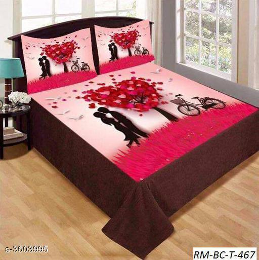 Comfortable Velvet Printed Double Bedsheet