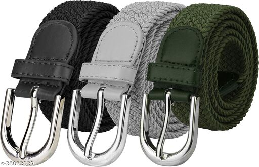 ZORO Ladies Stretchable Belt Combo (Pack of 3)