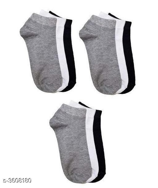 Fancy Cotton Unisex Socks (Pack Of 9)