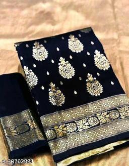 Charvi Zari Woven Cotton Silk Sarees