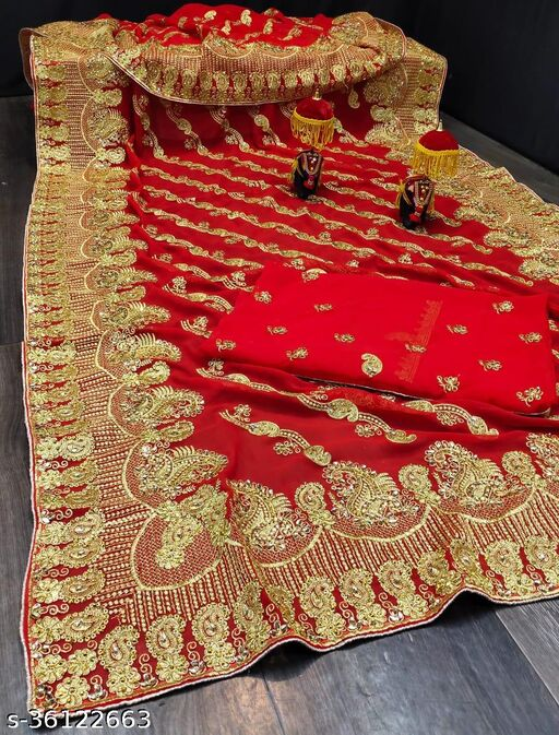 Beautiful heavy embroidery work saree