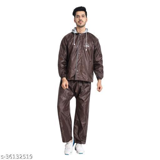 Zacharias Men's & Women's Waterproof Double Layer Reversible Raincoat with Pant