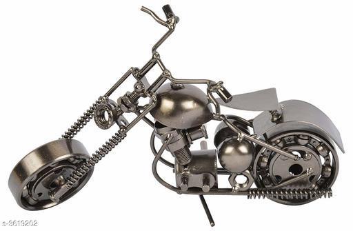 Metallic Motorcycle Showpiece