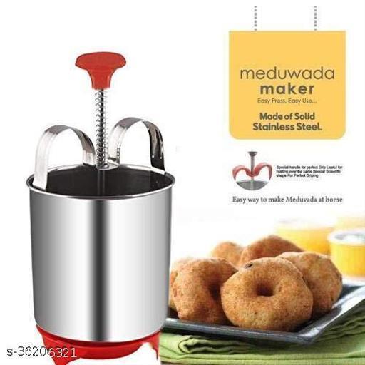 Meduvada Maker with Stand, Mendu Vada Machine, Vada Maker, Meduvada Maker with Stand (Stainless Steel) 1psc