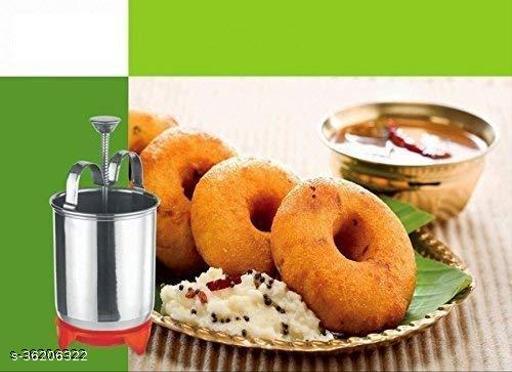 Medu WADA Vada Donut Maker Dispenser, Stainless Steel 1psc