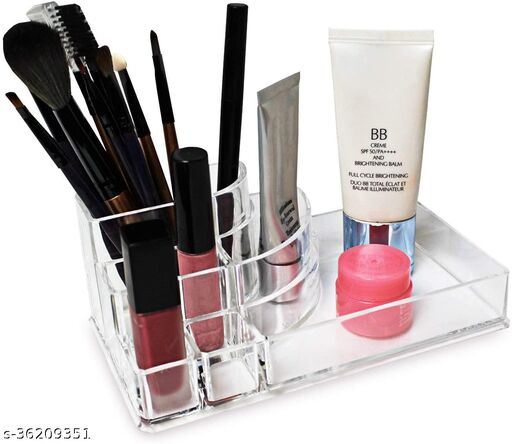 INOVERA 8 Section Cosmetic Organiser(Transparent)