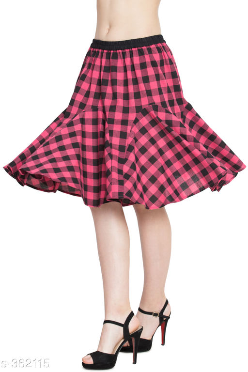 Skirts Beautiful Cotton Skirt  *Fabric* Cotton  *Waist Size* 34 in, 36 in, 38 in,40 in, 42 in, 44 in  *Length* Up To 30 in  *Type* Stitched  *Description* It Has 1 Piece Of Skirt  *Work* Checkered  *Sizes Available* 26, 28, 30, 32, 34, 36, 38, 40 *   Catalog Rating: ★4.1 (290)  Catalog Name: Ladies Checkered Cotton Gored Skirts CatalogID_38730 C79-SC1040 Code: 253-362115-