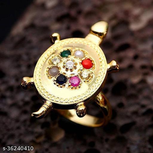 Navagraha Stone Ring Tortoise Ring / certified Navratna Stone for men and women
