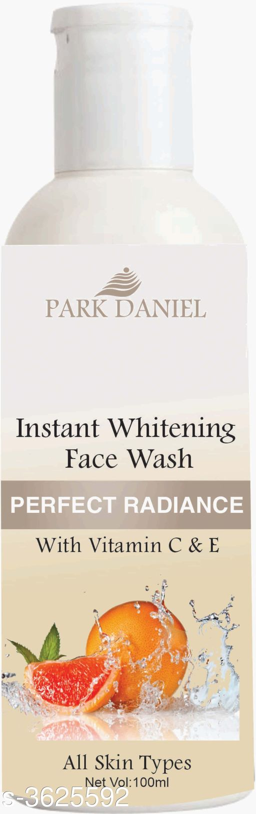 Face Instant Whitening Face Wash for Instant Face Whitening & Brightening(100 ml)   *Product Name* Instant Whitening Face Wash for Instant Face Whitening & Brightening(100 ml)  *Brand Name* Park Daniel  *Product Type* Face Wash  *Capacity* 100 ml  *Product Description*