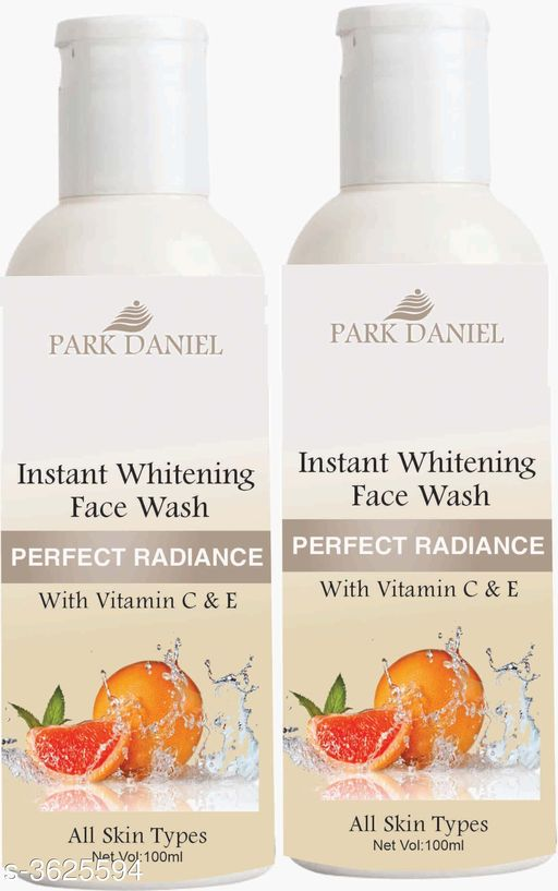 Face Instant Whitening Face Wash for Instant Face Whitening & Brightening Combo Pack of 2 Bottles of 100 ML (200 ML)   *Product Name* Instant Whitening Face Wash for Instant Face Whitening & Brightening Combo Pack of 2 Bottles of 100 ML (200 ML)  *Brand Name* Park Daniel  *Product Type* Face Wash  *Capacity* 100 ml Each  *Product Description*
