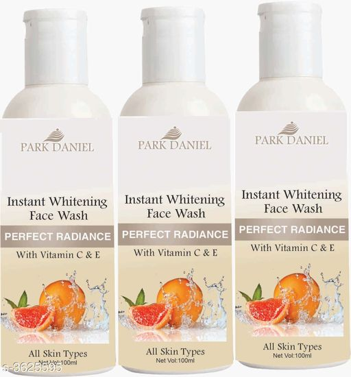 Face Instant Whitening  Face Wash for Instant Face Whitening & Brightening Combo Pack of 3 Bottles of 100 ML (300 ML)   *Product Name* Instant Whitening  Face Wash for Instant Face Whitening & Brightening Combo Pack of 3 Bottles of 100 ML (300 ML)  *Brand Name* Park Daniel  *Product Type* Face Wash  *Capacity* 100 ml Each  *Product Description*