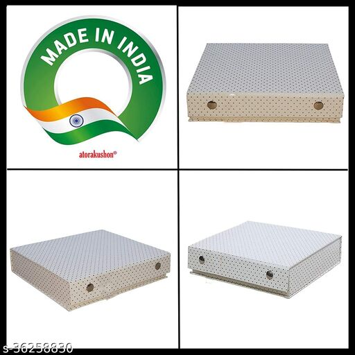Quick Organizer Pu Leather Doteed E-R Ring Jhumka Storage Box for Woman