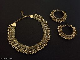 Elegant Ghungroo Necklace with Earrings