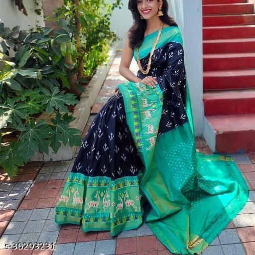 Keshvi Designer Jari Patta Saree with Multicolor Blouse