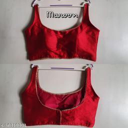 Women Phantom Silk Sleeveless Blouse (Choli) Multi Color