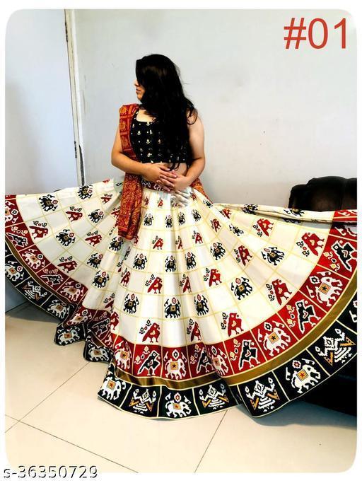 printed patola lehenga for navratri and festivel for women