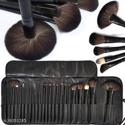 Color Tools Professionals 24Pcs Makeup Brush Set Makeup Tool Kit With Leather Pouch(Pack of 24)
