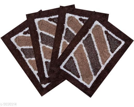 Trendy Cotton Doormat ( Pack Of 4 )