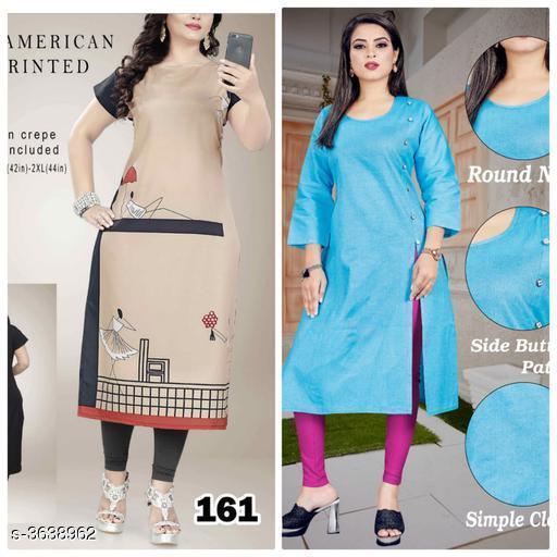 Kurtis & Kurtas Stylish Cotton Women's  Kurti   *Fabric* KURTI 1  *Sleeves* Sleeves Are Included  *Size* Kurti -1  *Length * Kurti -1  *Type* Stitched  *Description* It Has 2 Piece Of Women's Kurti  *Work* Kurti -1  *Sizes Available* L, XL, XXL   SKU: 161..sky_blue Free shipping is available for this item. Pkt. Weight Range: 500  Catalog Name: Aagyeyi Superior Kurtis - Nejadhari Fashion Code: 967-3638962--