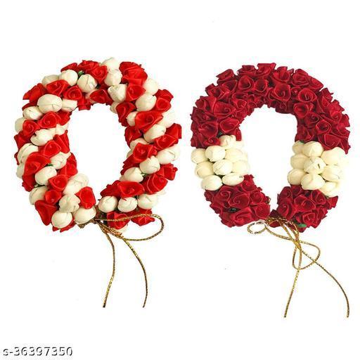 Hair Bun Gajra Bun Mogra Gajra Combo Flower Gajra Pack Of 02