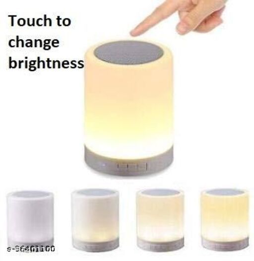 Wireless Night Light LED Touch Lamp Speaker with Portable Bluetooth & HiFi Speaker with Smart Colour Changing Touch Control, USB Rechargeable, TWS (Multicolor)
