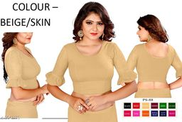 Stylish Cotton lycra Solid Blouse