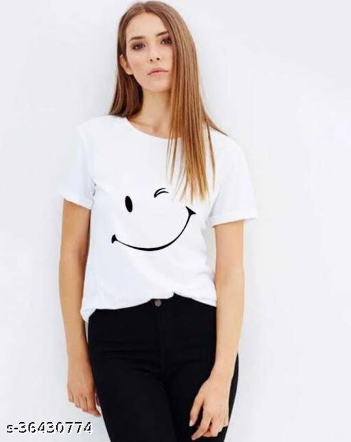 new design printed t shirt for woman