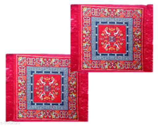 Trendy Cotton puja mats(Pack Of 2)