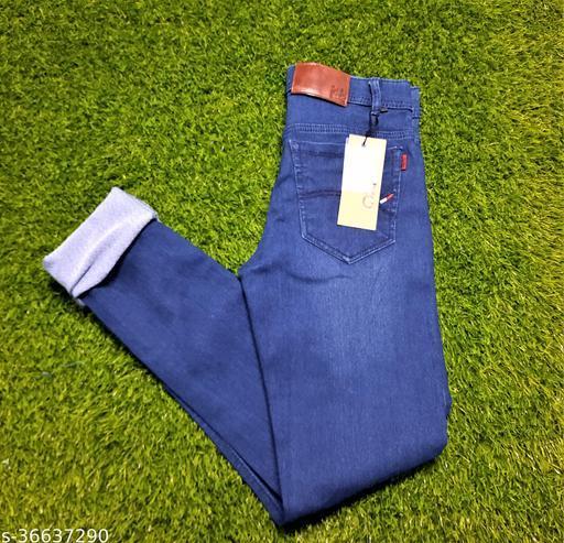 Strechable Men Basic Denim Jeans  Blue