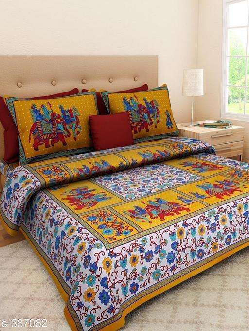 Stylish Cotton Double Bedsheets
