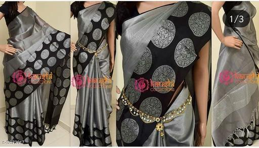 Banarasi Linen Tissue Silk Saree