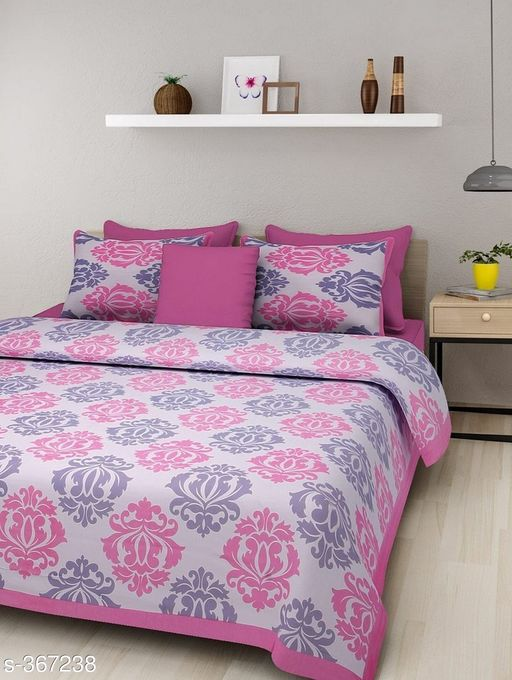 Stylish Cotton Double Bedsheet