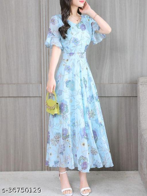 Exclusive Trendy Look Floral Maxi Digital Printed Designer Maxi Gown