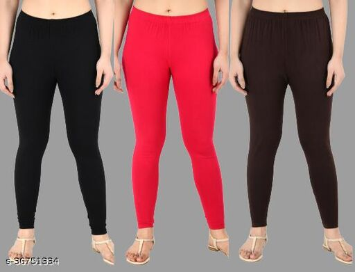 Women Casual Ankle Length Leggings Combo of 3