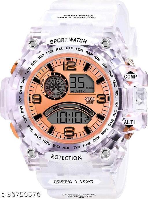 Multi-Functional Digital Sports Watch for Men's - Orange