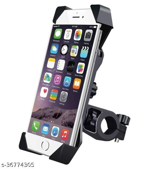 Universal 360 Degree Adjustable Mobile Phone Holder for Bicycle | Bike | Motorcycle | Ideal for Maps, Navigation, Charging - Holder (PACK OF 1 )