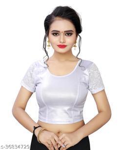 YOELLA Girl's & Women's Cotton Lycra Blend Readymade Round Neck Short Sleeve Blouse
