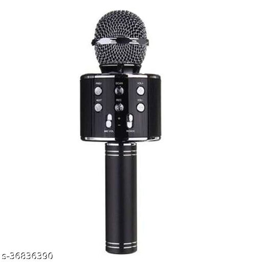Mic Handheld Wireless Microphone Mic with Audio Recording Bluetooth Speaker & Karaoke Feature for All Smartphones & Tablets (Black-1)