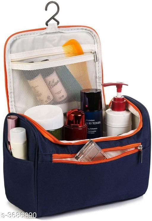 Travel Dopp Kit Case Extra Large Makeup Cosmetic Bag Organiser (Blue)