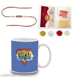 BANDHAN Gift for Rakhi | Gift for Brother | Rakhi Gift for Brother | Super Brother | Rakhi Gift | Rakhi Gift Ideas | Printed Mug with Rakhi roli chandan haldi mishree