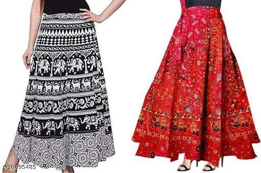 Elegant Glamarous Women Western Skirts.( set of 2 Wrap Around Skirt.)