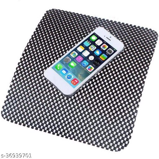 Lightweight Anti-Slip Mat Washable Material for All Cars Dashboard (Pack of 1) Multicolor