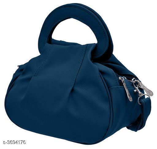 Trendy Women's Blue Pu Leather Slingbag