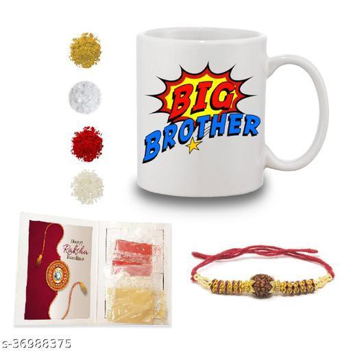BANDHAN Gift for Rakhi | Gift for Sister and Brother | Rakhi Gift for Brother | Gift for Sister | Rakhi Gift | Rakhi Gift Ideas | Printed Mug with Rakhi roli chandan haldi mishree