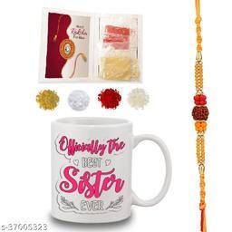 Bandhan Rakhi Gift for Sister officially best Sister Quote White Coffee Mug 330 ml - Raksha Bandhan Gifts for Sister, Sister Rakhi Gift, Sister Birthday Gift, Rakshabandhan Gifts