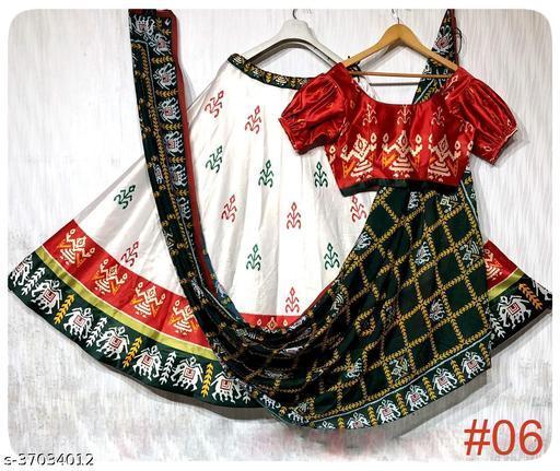 shiva printed lehenga for navratri and festivel for women