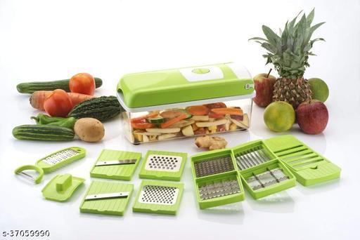 12 in 1 (green) multi vegetable cutter, fruit slicer and Vegetable & Fruit Grater & Slicer  (12 in 1 cutter set, chopper, grater, peeler, Slicer, vegetable cutter, fruit cutter)