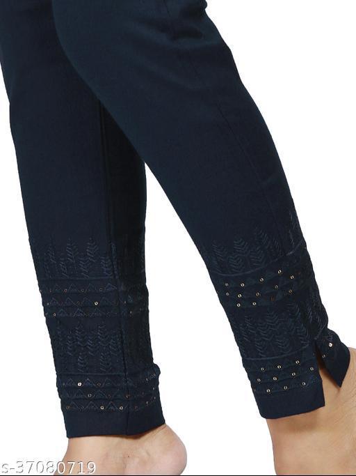 Sweattire Women's Stretchable Reyon Embroidery Pants